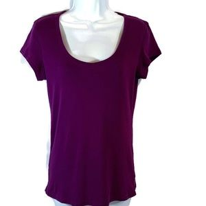 Victoria's Secret VS Tee Shop Purple Short Sleeve